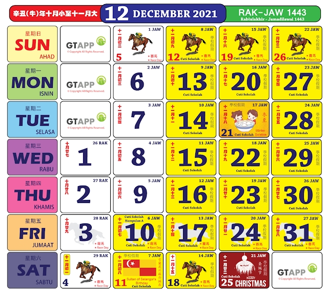 Anda Boleh Mula Dapatkan Kalender 'Kuda' Bagi Tahun 2021 throughout 2021 Kalender Cuti & Sekolah