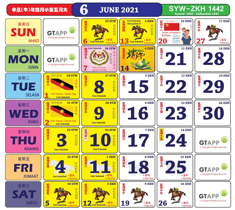 Anda Boleh Mula Dapatkan Kalender 'Kuda' Bagi Tahun 2021 within Cuti Umum Calendar Kuda 2021