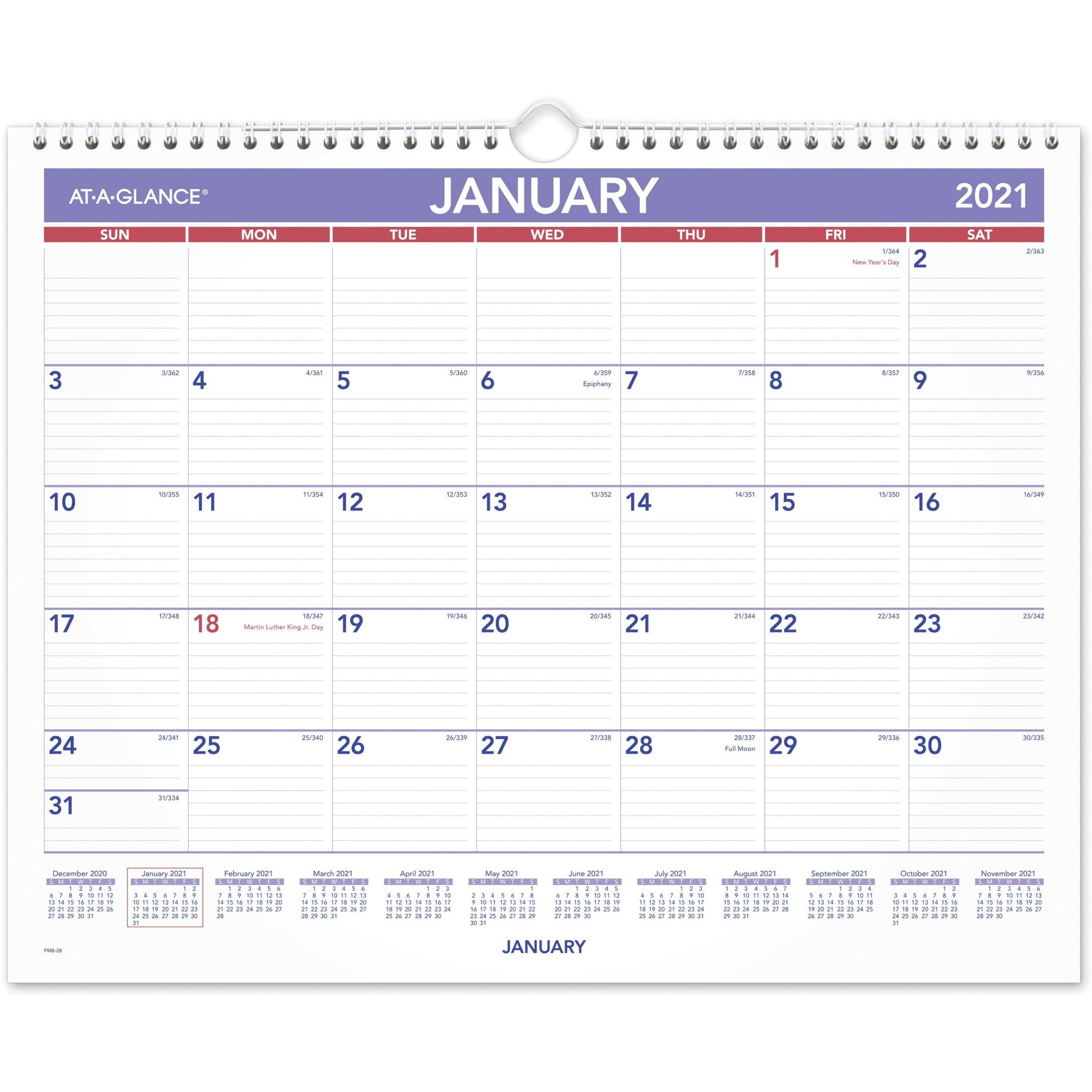 At-A-Glance Monthly Wall Calendar - Julian Dates - Monthly - 1 Year - January 2021 Till December with regard to Julian Date Army 2021