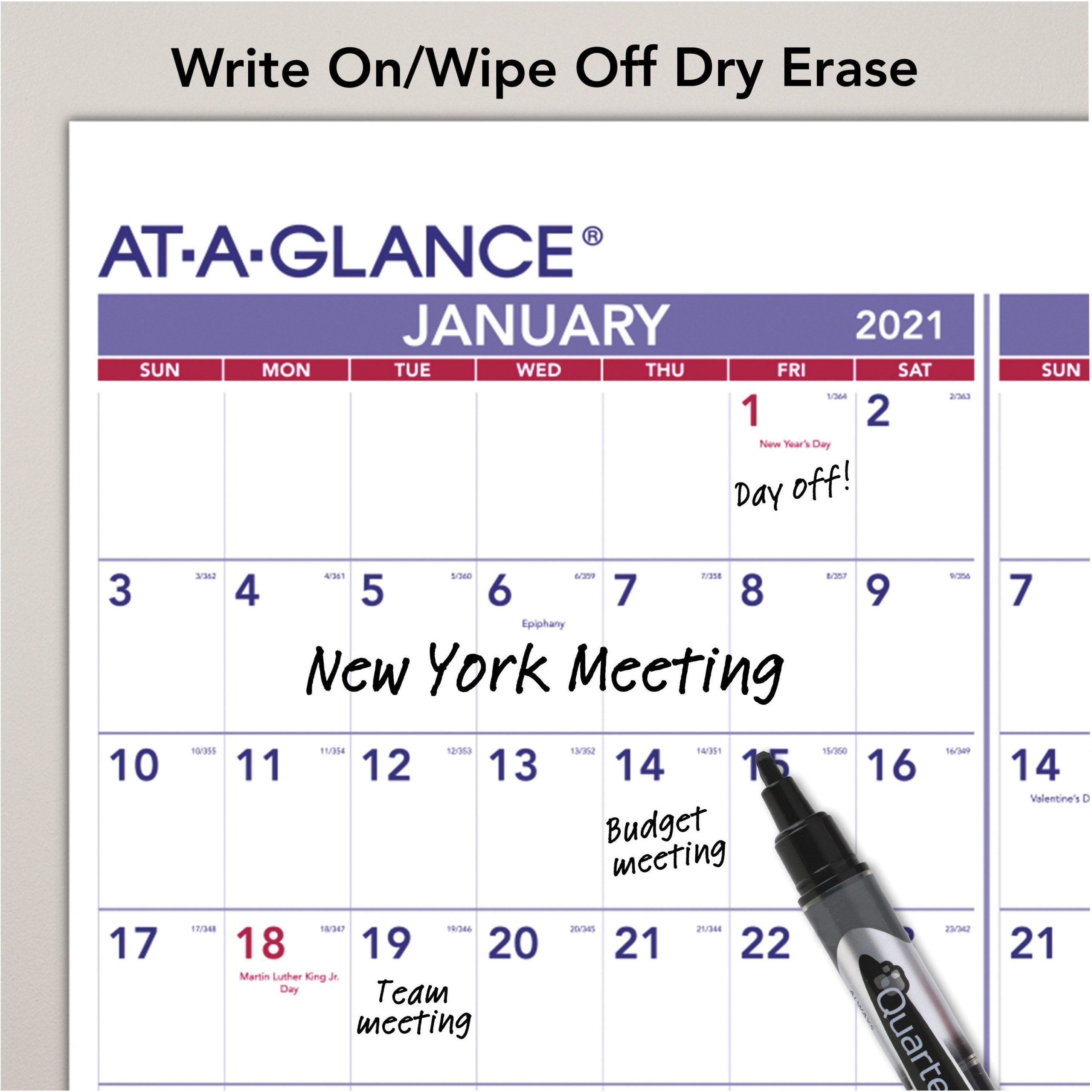 At-A-Glance Yearly Wall Calendar - Julian Dates - Yearly - 1 Year - January 2021 Till December throughout Julian Date Calendar For Year 2021 Graphics