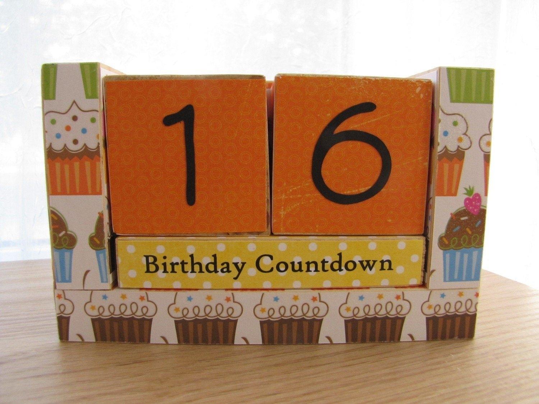 Birthday Countdown Wooden Block Calendarqueenvannacreations regarding Image Of Countdown In Months Graphics