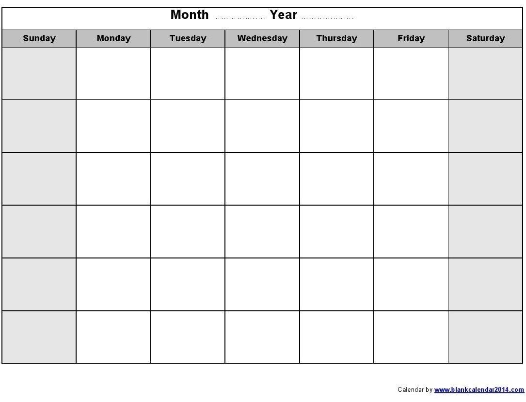 Blank Calendar Monday To Friday | Example Calendar Printable within Printable Calendar Weekly Mon - Fri Graphics