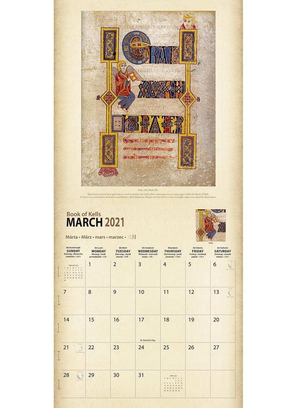 Book Of Kells 2021 Calendar | Blarney with 2021 Calendar Trinidad And Tobago Image