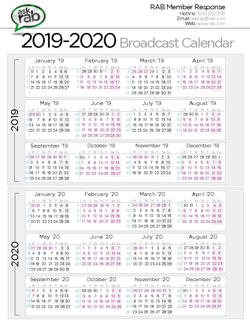 Broadcast Calendars | Rab with 2021 Broadcast Calendar Printable Photo