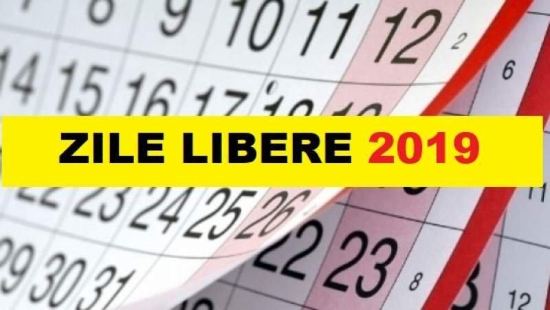 Calendar 2019 Cu Sarbatori Legale Romania pertaining to Calendar Romania Zile Libere 2021 Image