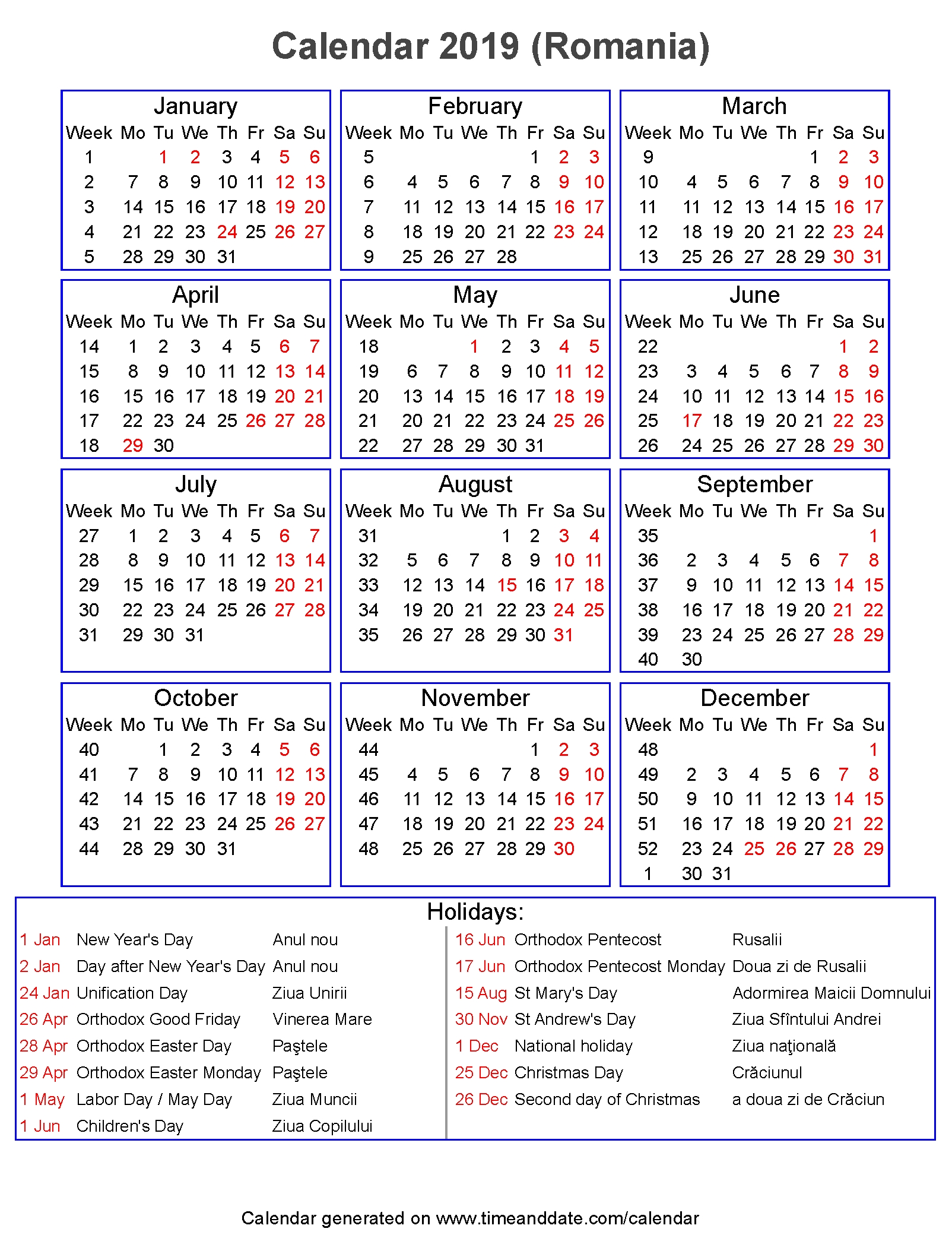Calendar 2020 Cu Zile Libere | Calendar Template Printable Monthly Yearly pertaining to Calendar 2021 Ro Zile Libere