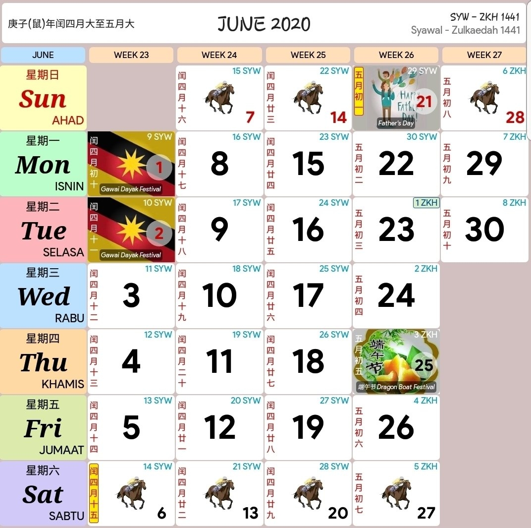 Calendar 2020 Malaysia Kuda - Calendar Inspiration Design with Image Malaysia 2021 Calendar Kuda Image
