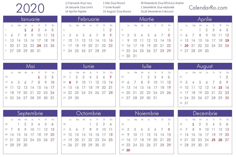 Calendar 2020 Zile Libere | Calendar Printables Free Templates pertaining to Calendar 2021 Cu Zile Legale