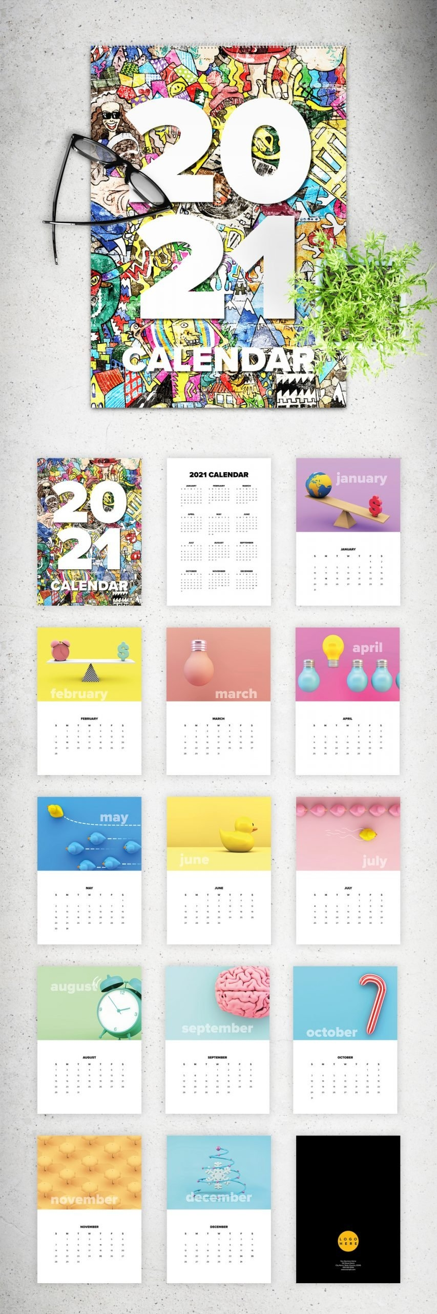 Calendar 2021 Collection For Photoshop ( Update Dec 2020 ) | Gfx Download with regard to 2021 Picture Calendar Template For Illustrator
