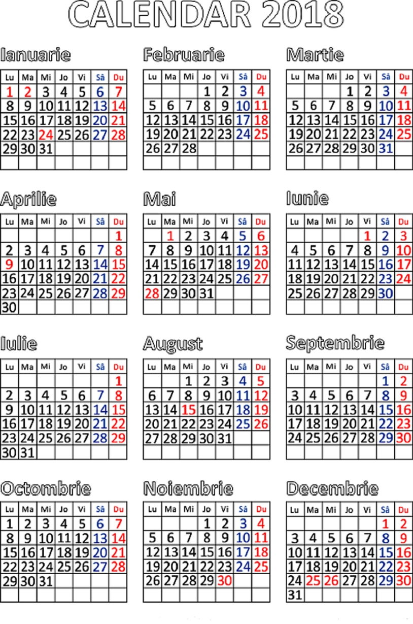 Calendar 2021 Cu Zile Libere Legale | Calendar Printables Free Templates for Zile Libere In 2021 Image