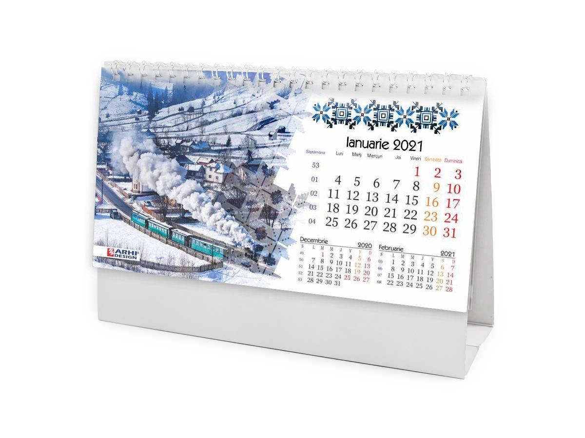 Calendar 2021 De Birou, Romania - Arhi Design intended for Calendar 2021 Ro Zile Libere