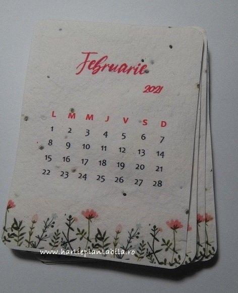 Calendar 2021 - Hârtie Plantabilă within Cate Zile Lucratoare Are Fiecare Luna In 2021