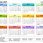 One Page2021 Calendar Printable Images Image