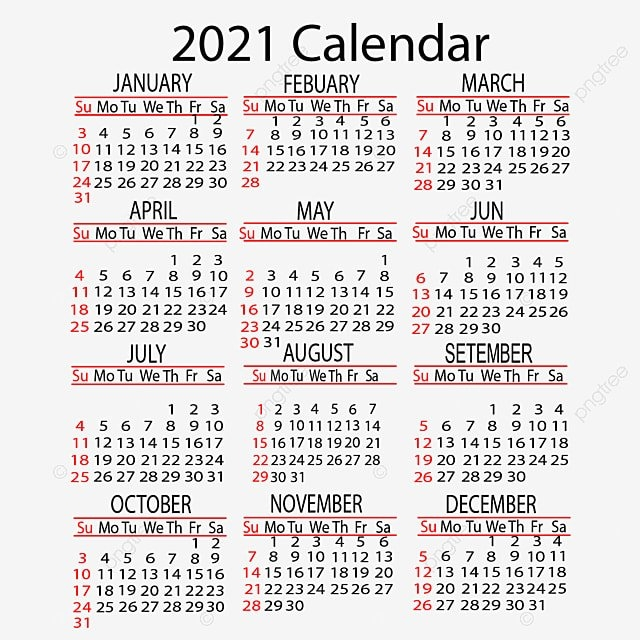 Calendar 2021 Yearly Vector Design, 2021, Calendar, Year Png Transparent Clipart Image And Psd intended for 2021 Calendar Hong Kong Template Image