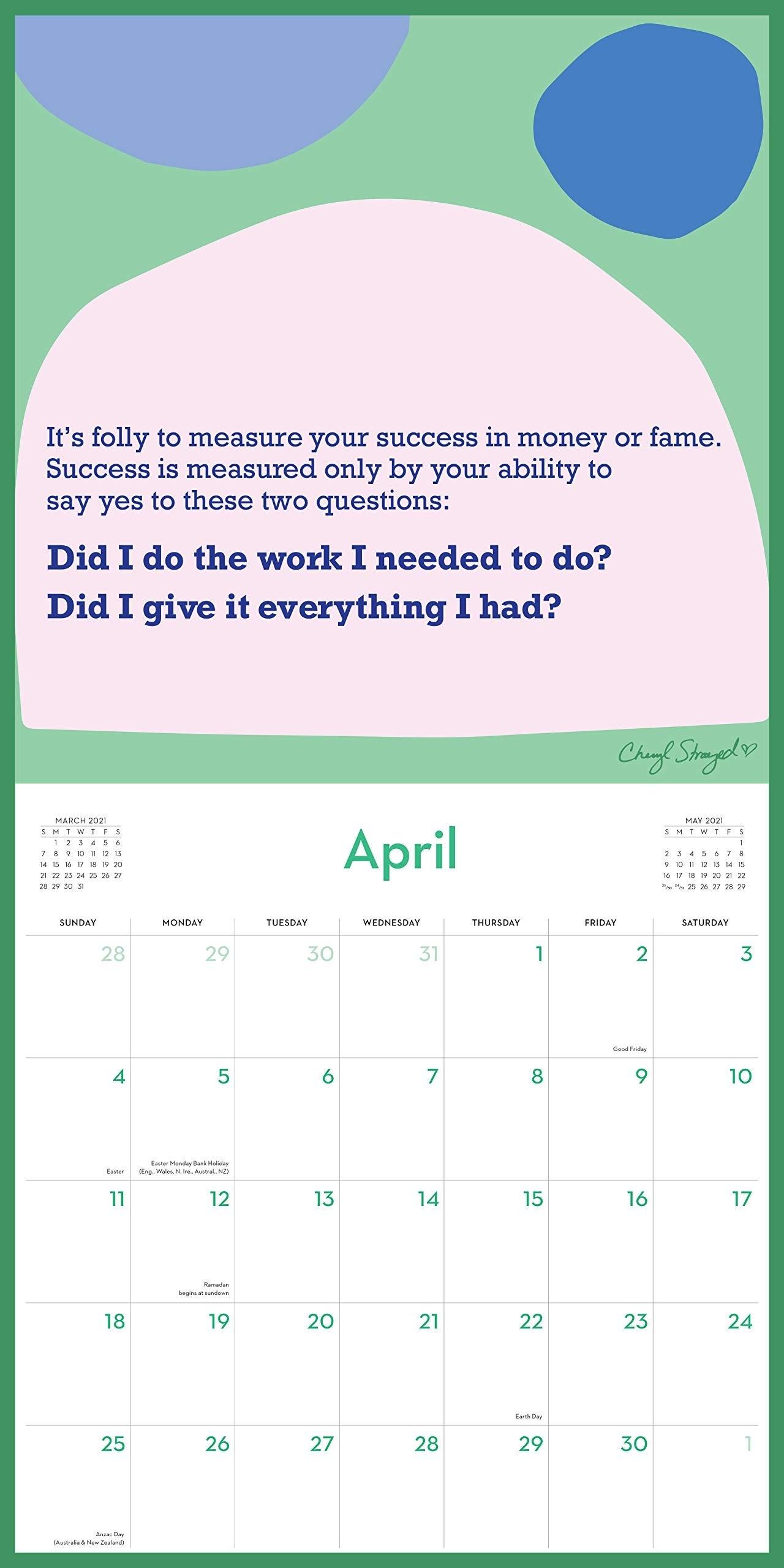 Calendar 2021 - You Get To Make Your Life - Workman Publishing pertaining to Calendar Zile Lucratoare 2021 Upromania Graphics