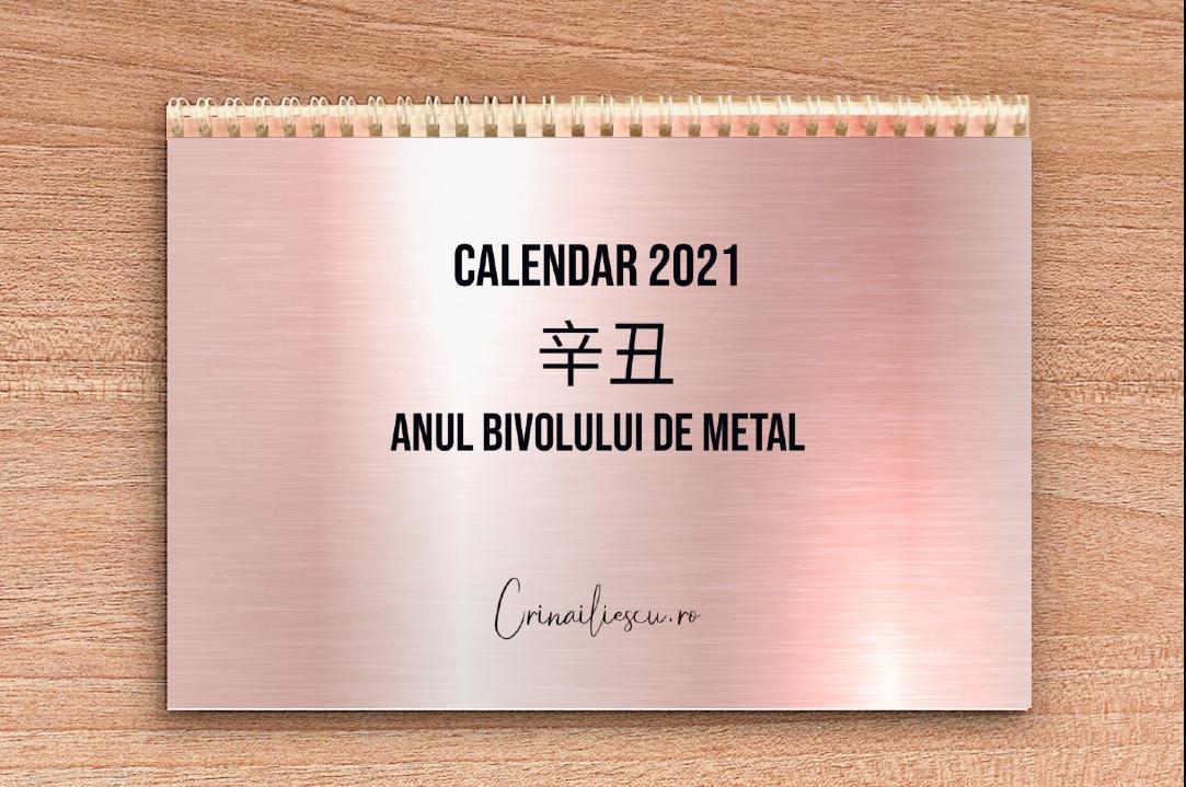 Calendar 2021 - Zile Bune, Zile Rele - Feng Shui for Calendar Zile Lucratoare 2021 Upromania Graphics