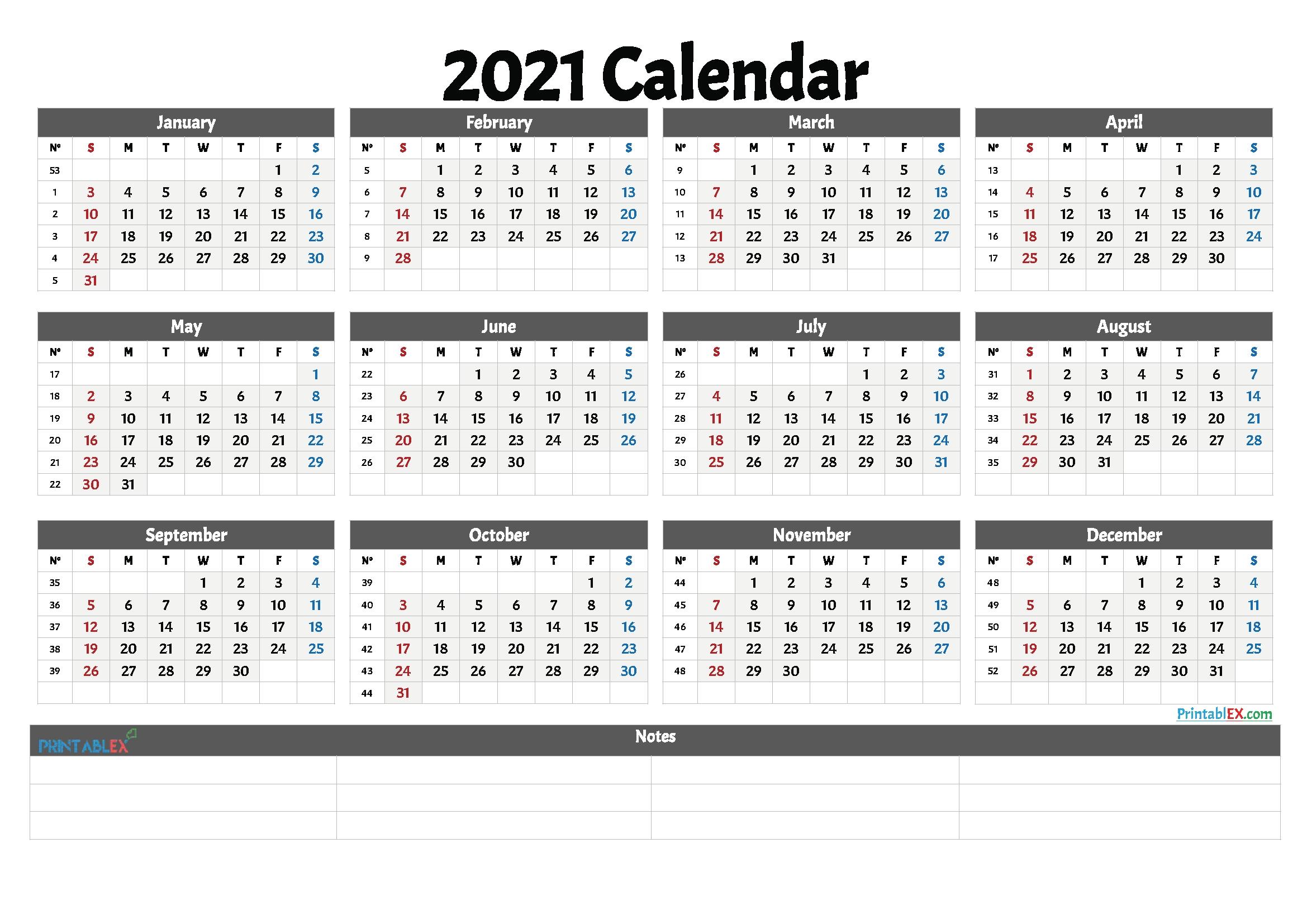 Calendar 2021Week | Calendar Printables Free Templates intended for 2021 Weekly Calendars Printable Free