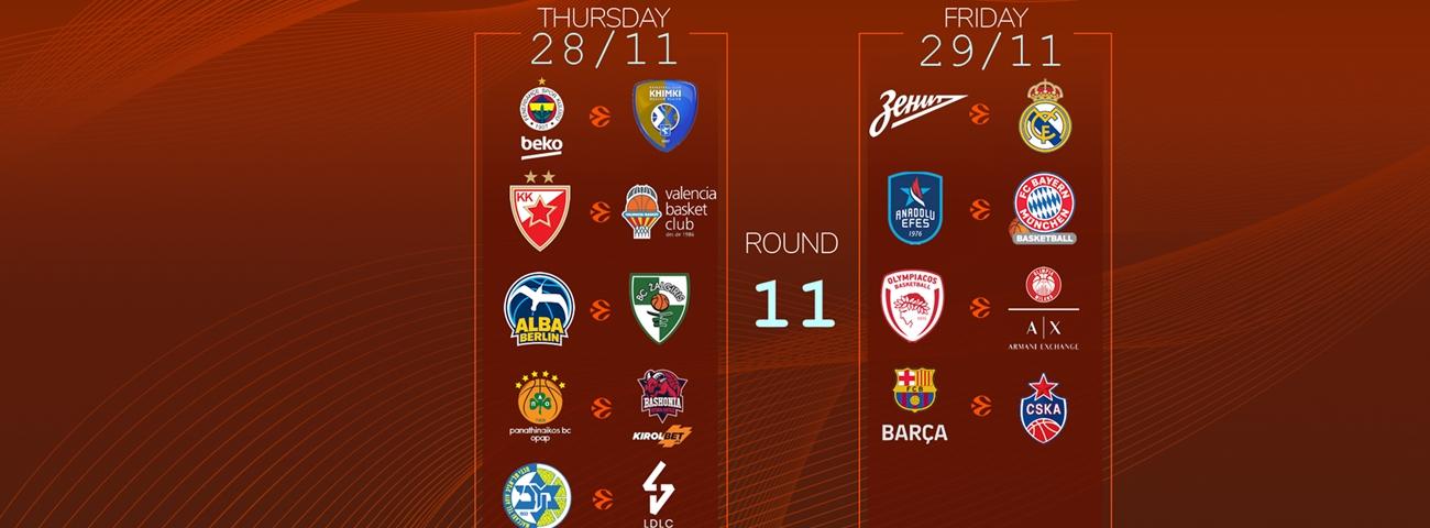 Calendar Countdown: Round 11 - News - Welcome To Euroleague Basketball with 180 Day Countdown Calendar