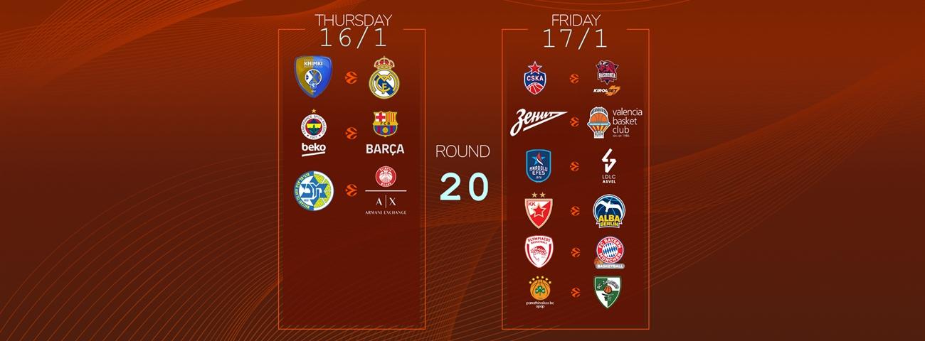 Calendar Countdown: Round 20 - News - Welcome To Euroleague Basketball regarding 180 Day Countdown Calendar