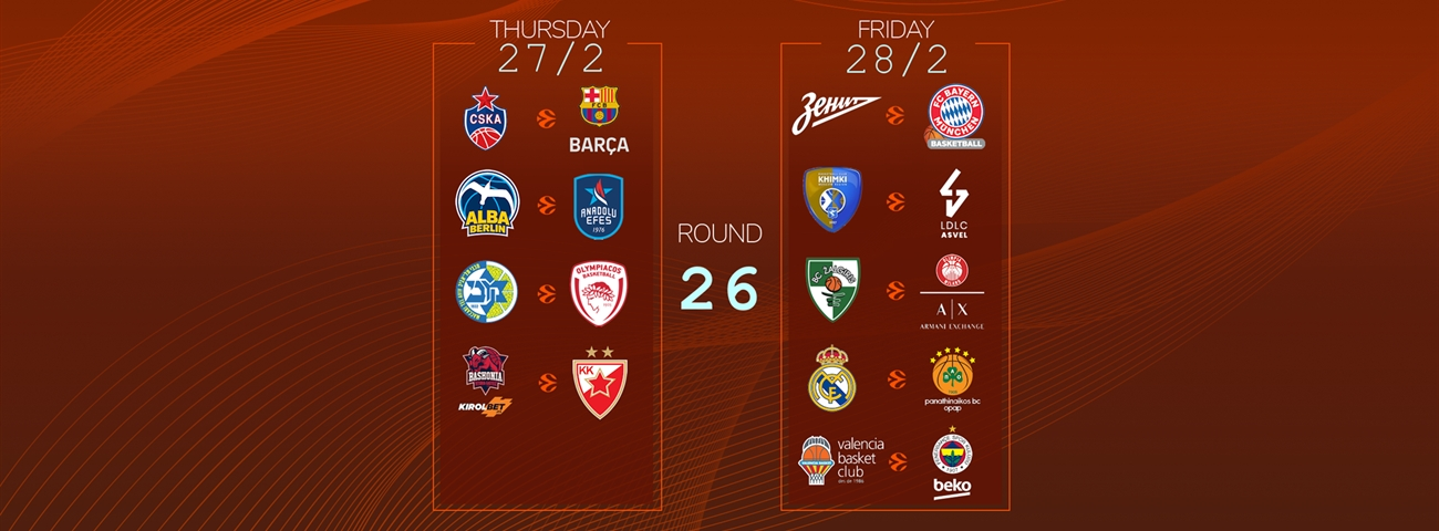 Calendar Countdown: Round 26 - News - Welcome To Euroleague Basketball intended for 180 Day Countdown Calendar Graphics