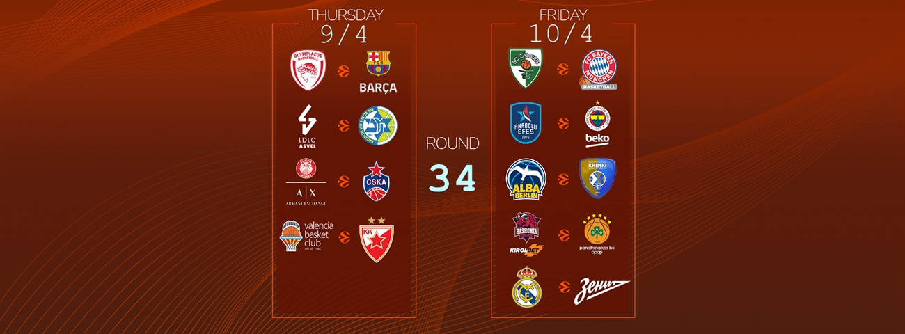 Calendar Countdown: Round 34 - News - Welcome To Euroleague Basketball with regard to 180 Day Countdown Calendar