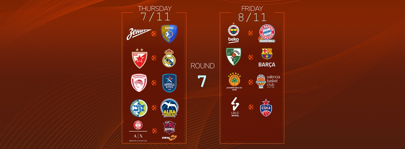 Calendar Countdown: Round 7 - News - Welcome To Euroleague Basketball with 180 Day Countdown Calendar