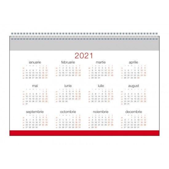 Calendar De Birou 2021 - Caro | Toppaper.ro regarding Calendar Zile Lucratoare 2021