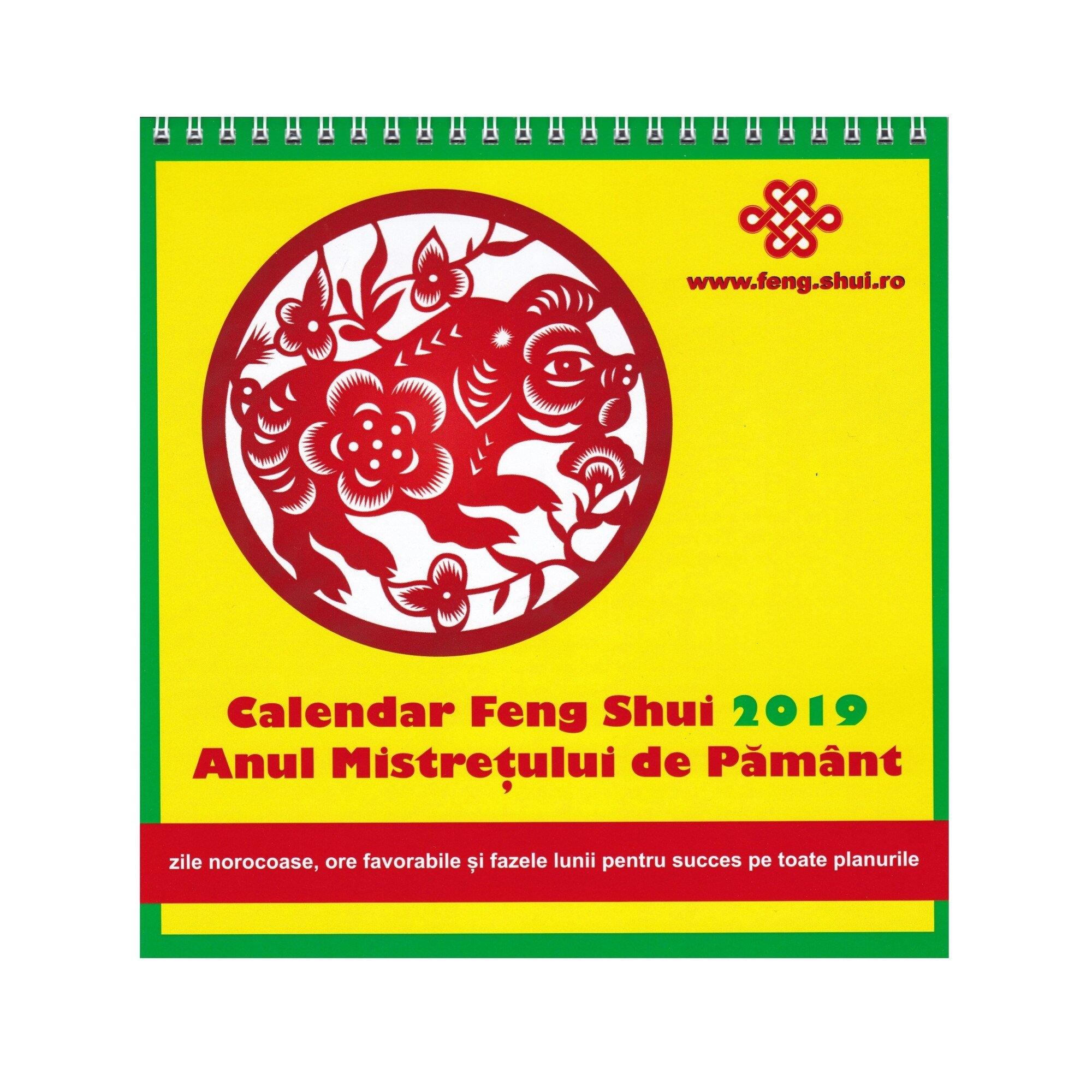 Calendar Feng Shui 2019 - Limba Romana, Multicolor, 20 X 20 Cm, 15 Pagini - Emag.ro inside Calendar 2021 In Limba Romana Image