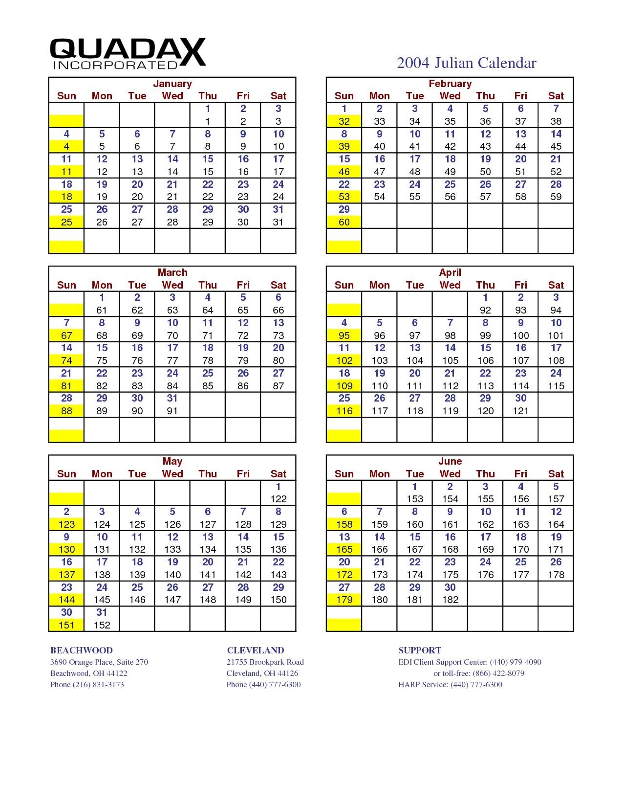 Calendar Julian 2021 Quadax | Free Printable Calendar regarding Calendar With Numbered Days 2021 Photo