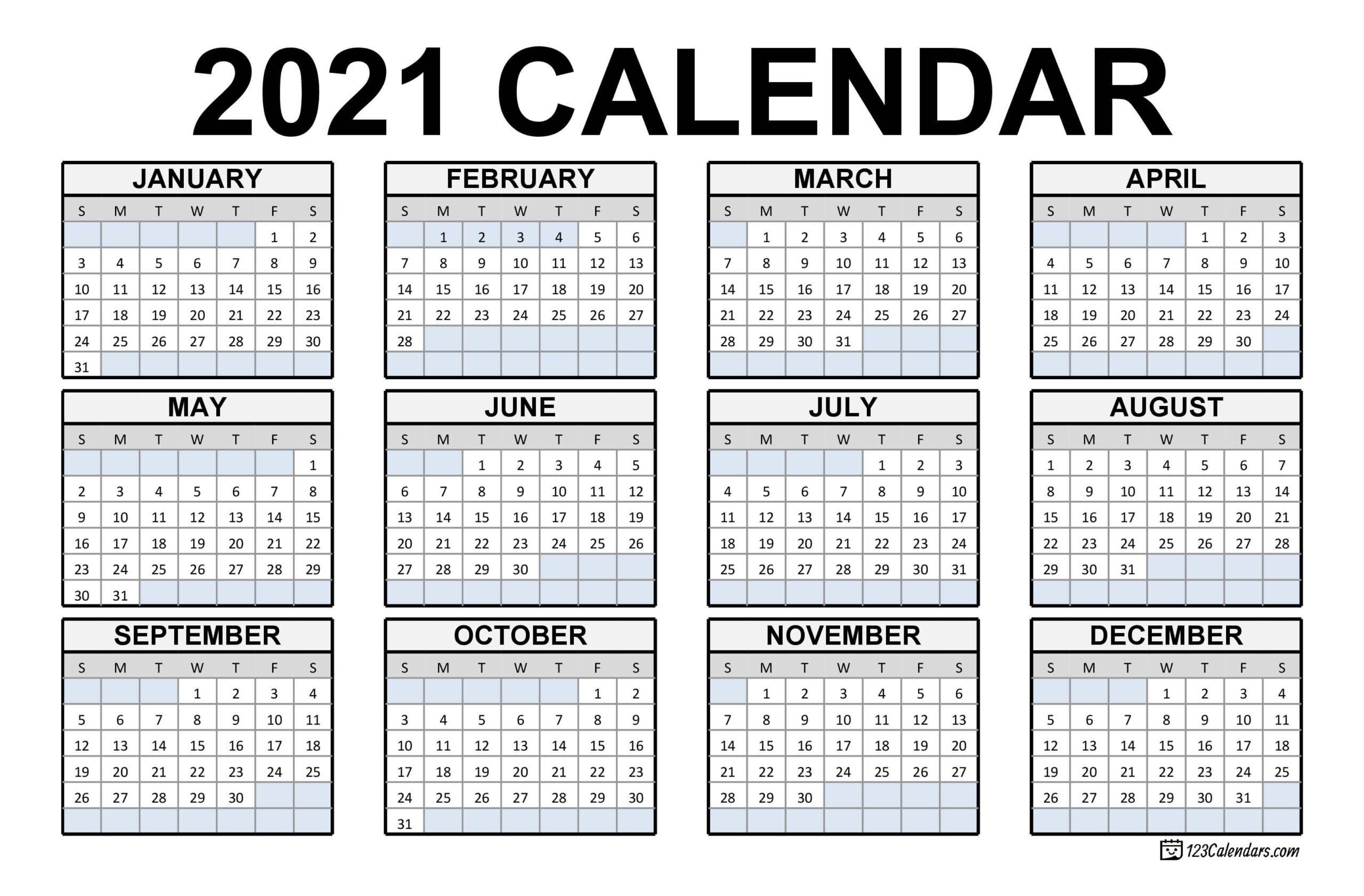 Calendar Of Weekends Only 2021 | Calendar Printables Free Templates for Calendar 2021 Cu Zile Legale Image