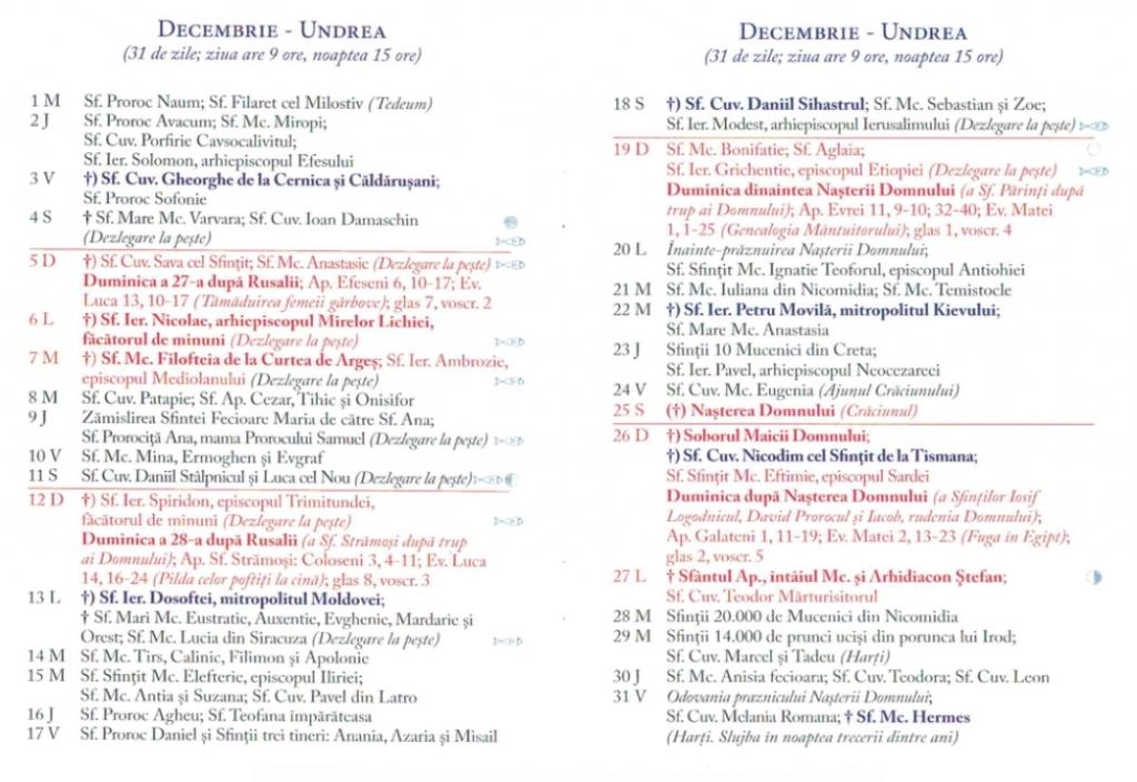 Calendar Ortodox 2021 - Sărbători Religioase Din Fiecare Lună, Zile De Post Și Dezlegare La Pește regarding Cate Zile Lucratoare Are Fiecare Luna In 2021 Photo