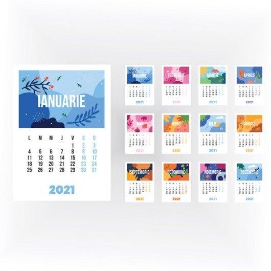 Calendar Perete Calendar Colorful Seasons 2021   La Print   Craiova with Calendar 2021 Cu Zile Lucratoare