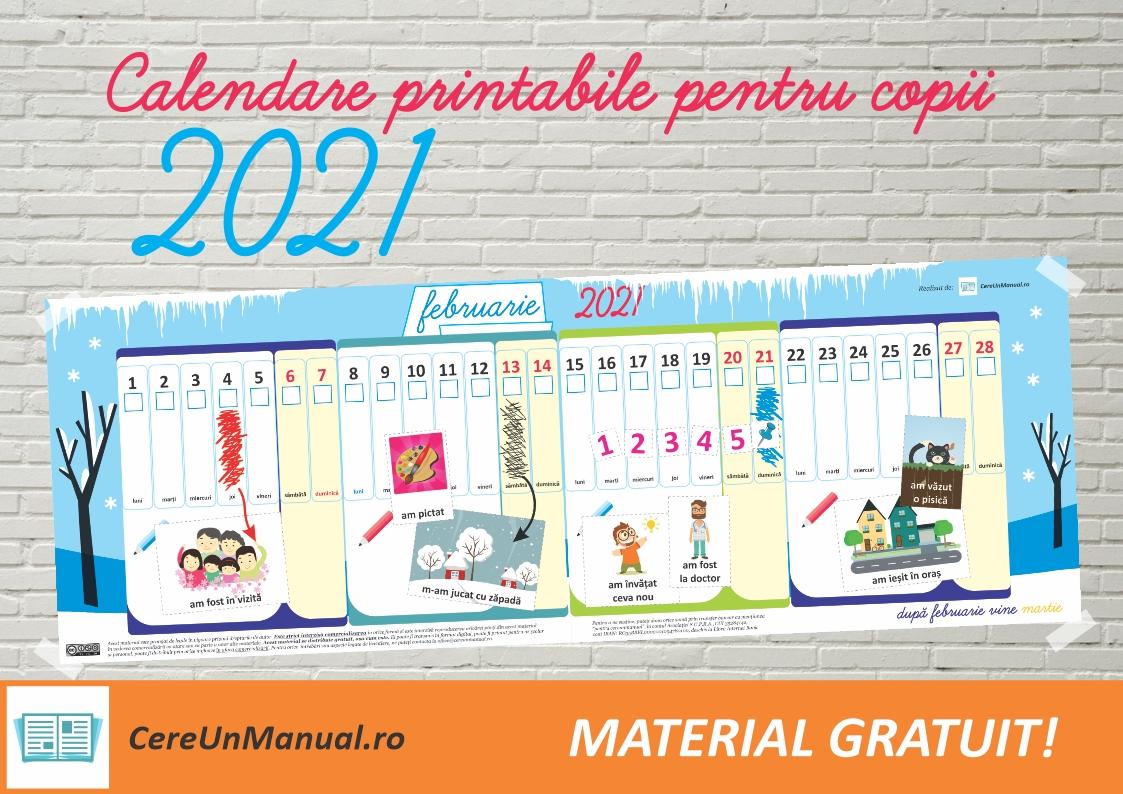 Calendar Printabil 2021 Cu Activități Pentru Copii - Cere Un Manual pertaining to Calendar Cu Zile Libere Legale Pentru 2021 Image