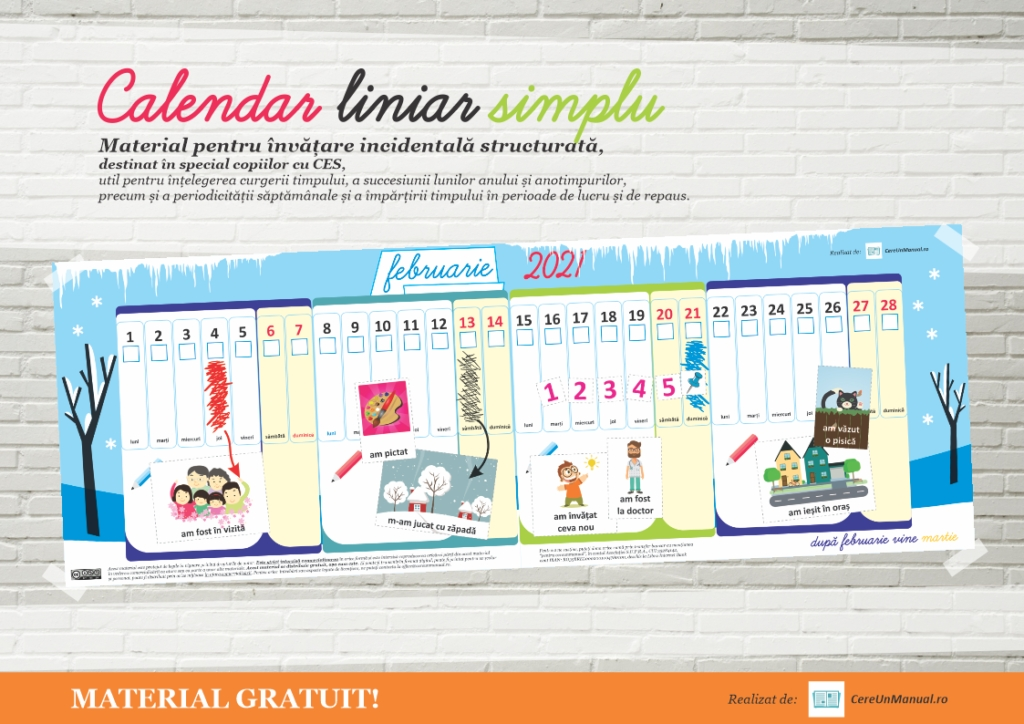 Calendar Printabil 2021 Cu Activități Pentru Copii - Cere Un Manual with regard to Calendar 2021 Cu Zile Lucratoare Photo