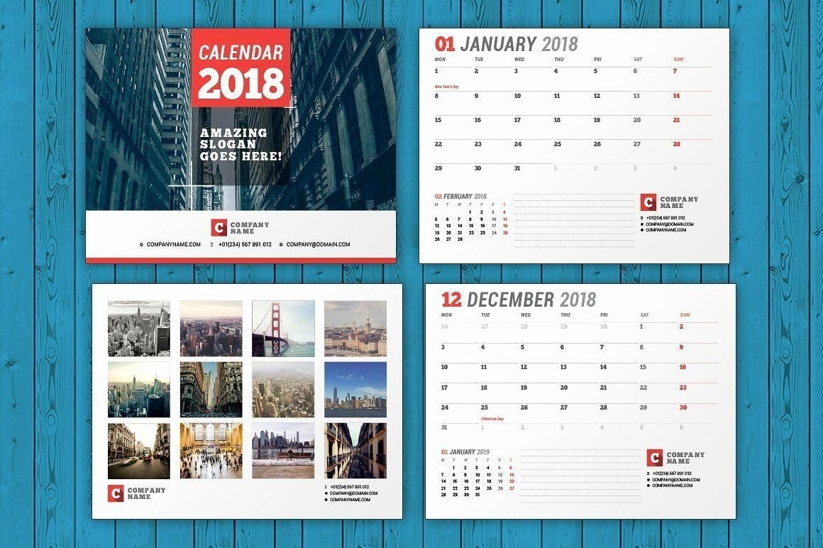 Calendar Template For Indesign Luxury Template Calendar 2018 Indesign In 2020 | Free Calendar in Indesign Calendar Templates 2021 Graphics