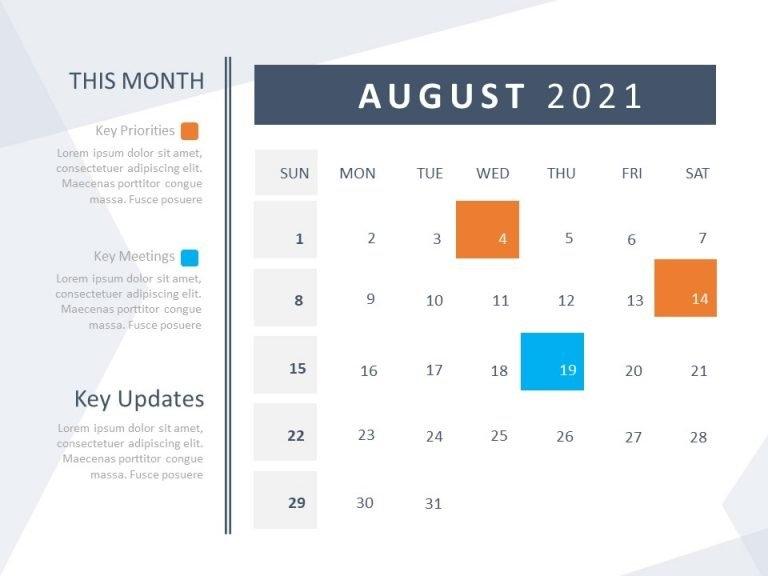 Calendar Template For Powerpoint 2021 | Calendar Templates | Slideuplift in Ppt Calendar Template 2021 Photo