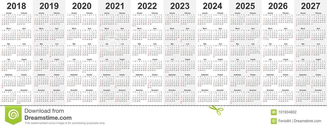Calendar Template Set For 2018, 2019, 2020, 2021, 2022, 2023, 2024, 2025, 2026, And 2027 Years throughout October Calendars For 2022 2023 2024 And 2025 Graphics