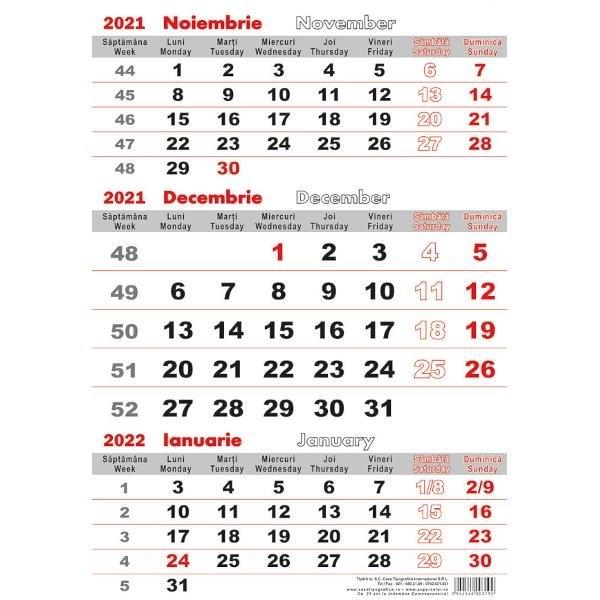 Calendar Triptic 2021 - Clb.ro within Calendar 2021 Cu Zile Lucratoare Photo
