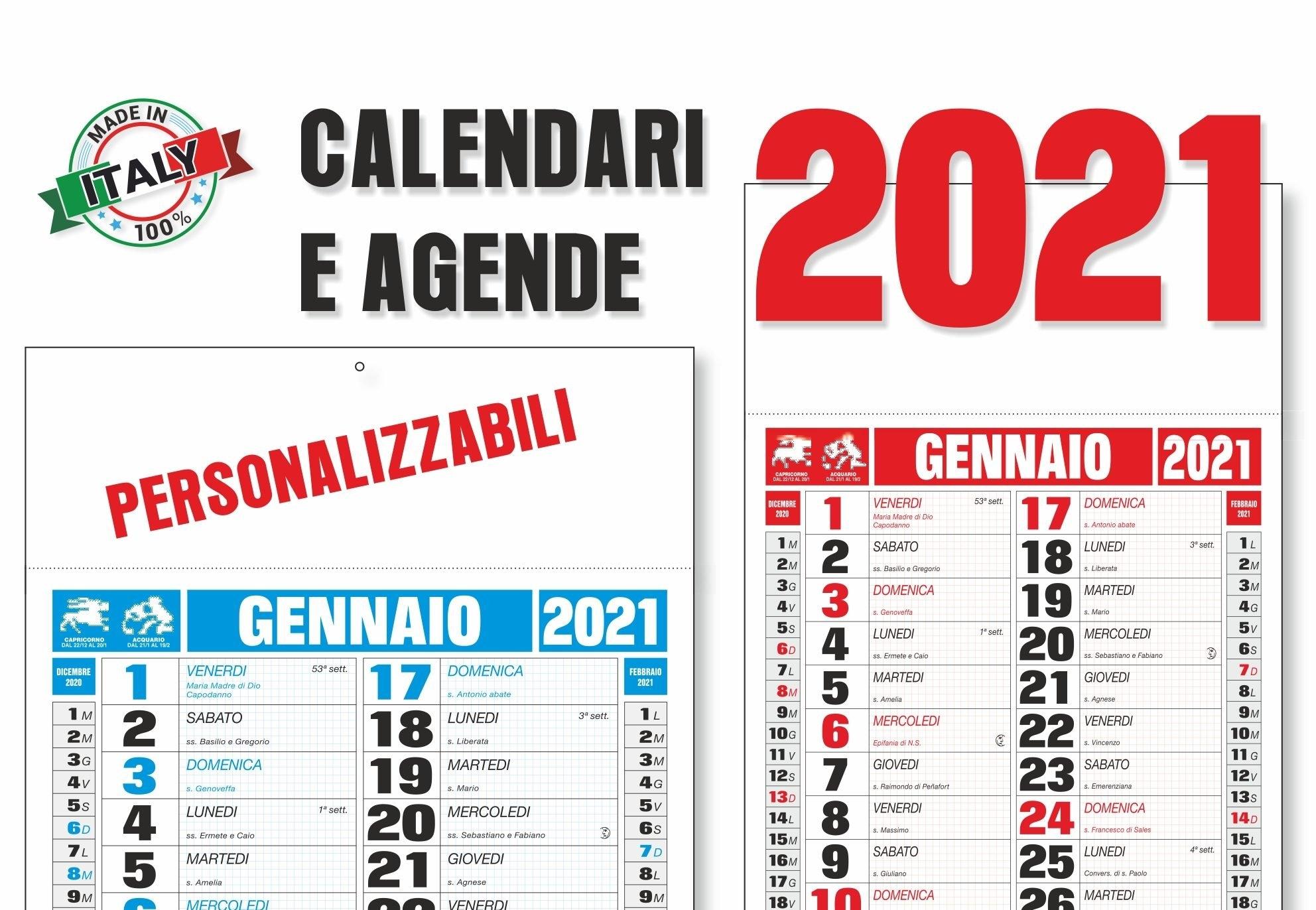 Calendari Ed Agende 2021 Personalizzabili - Graficom within Calendario 2021 Italia Calendarpedia Photo