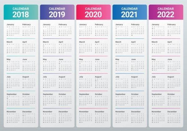 Calendario 2016 2017 2018 2019 — Vettoriali Stock © Dolphfynlow #87419846 pertaining to Broadcast Calendar 2021 Printable Photo