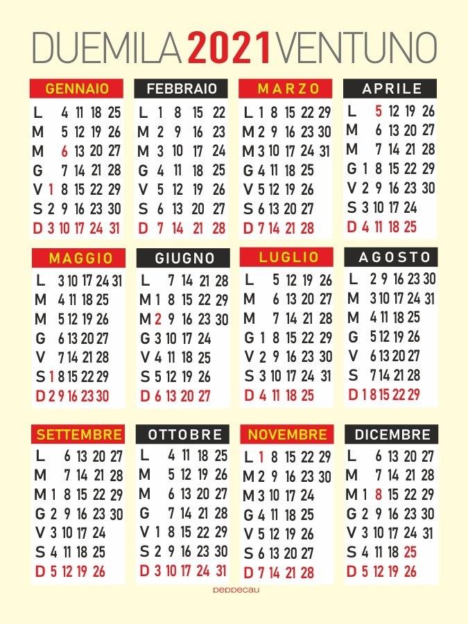 Calendario 2021 - Calendario 2021 Mensile for Calendario 2021 Italia Calendarpedia