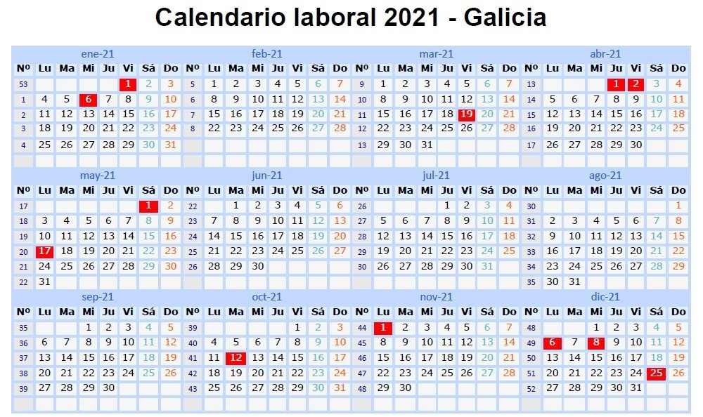 Calendario 2021 - Descarga El Calendario 2021 En Excel Excel Total / This Can Be Very Useful If pertaining to Calendario 2021 En Excel Photo