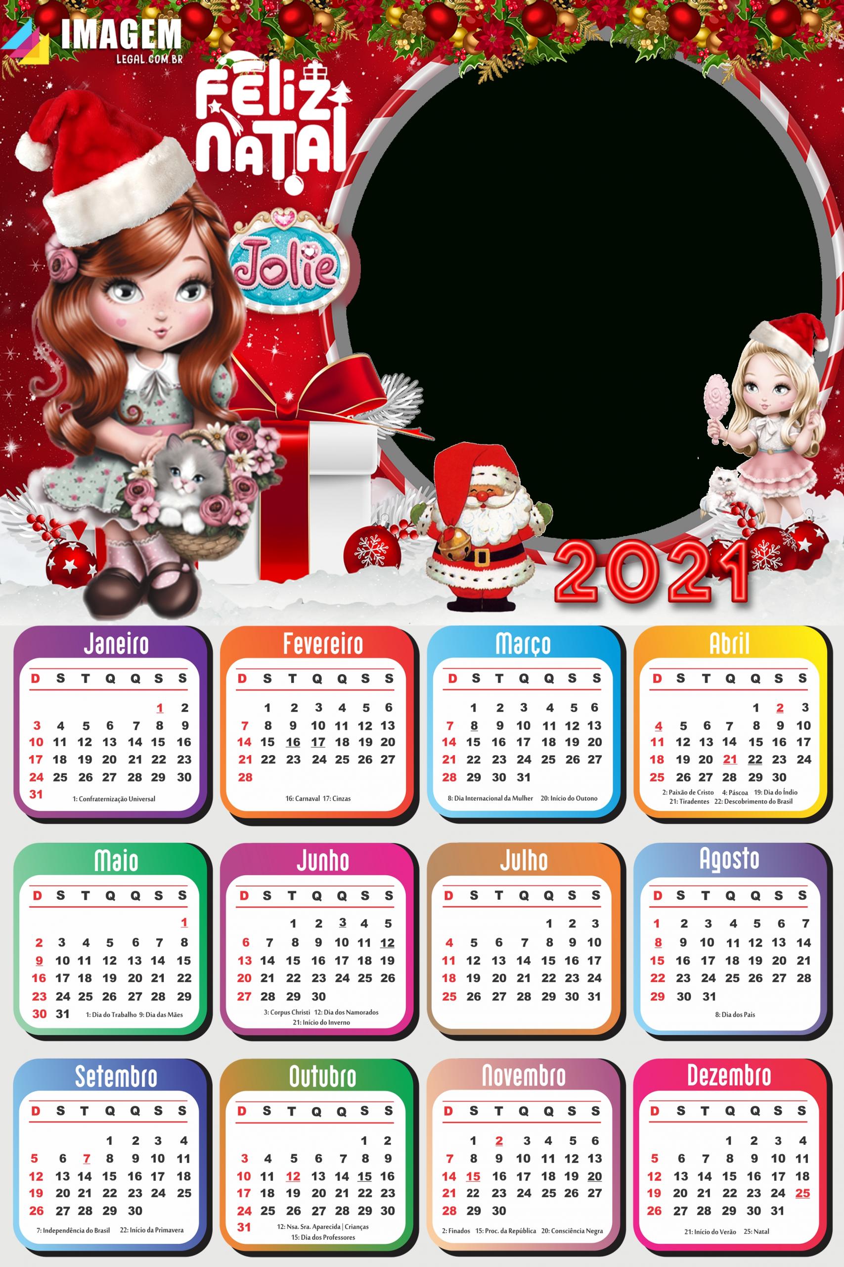 Calendário 2021 Png Feliz Natal Da Jolie | Imagem Legal with regard to 2021 Calendar With Days 1-365 Image