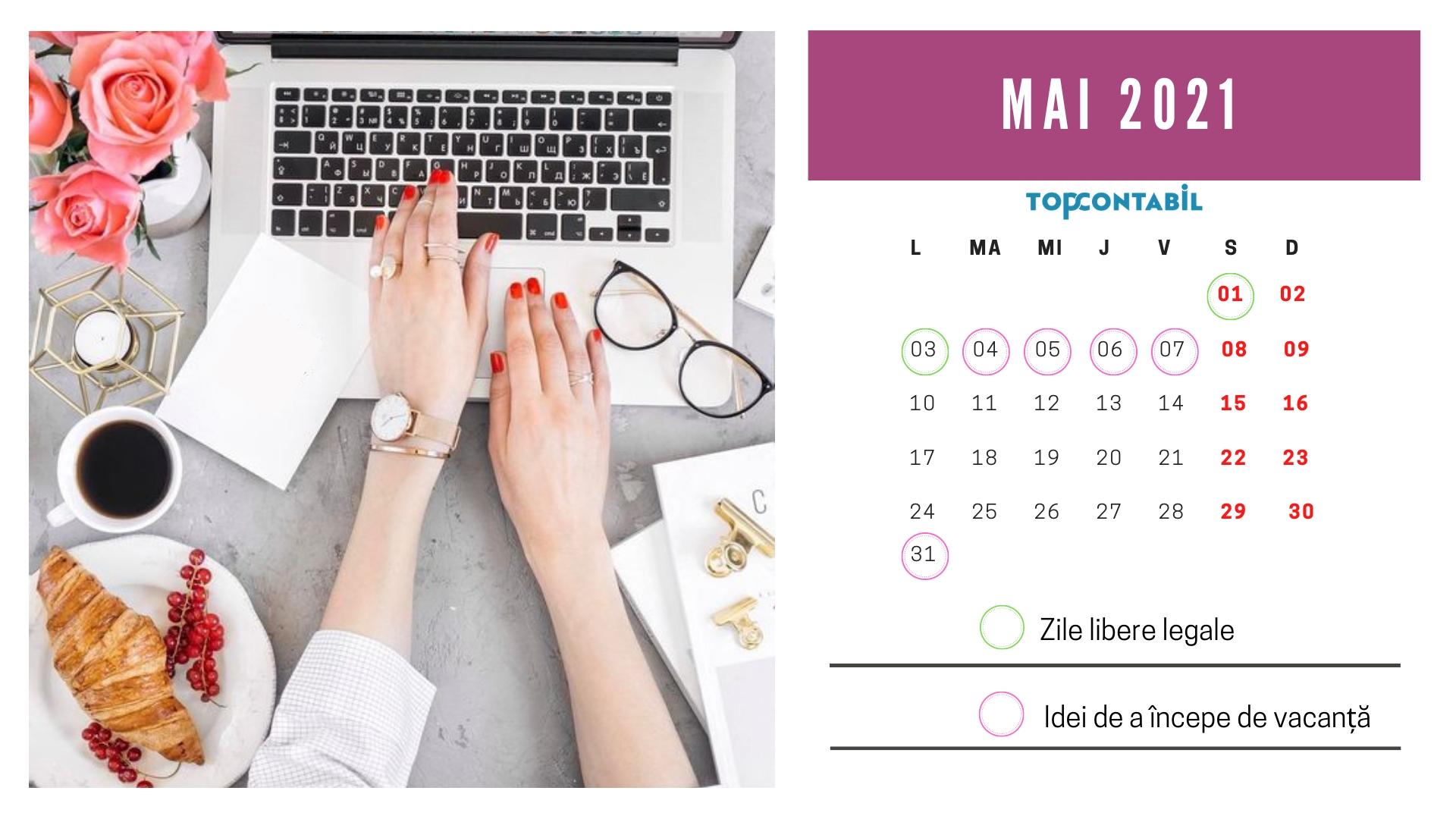 Calendarul Sărbătorilor Legale În 2021. • Topcontabil pertaining to Zile Libere Anul 2021