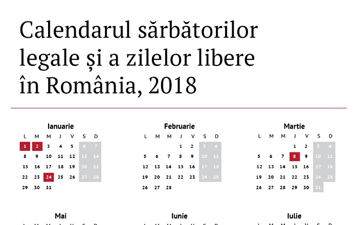 Calendarul Zilelor Libere În 2018, Decretate Prin Lege În România for Calendar Romania Zile Libere 2021