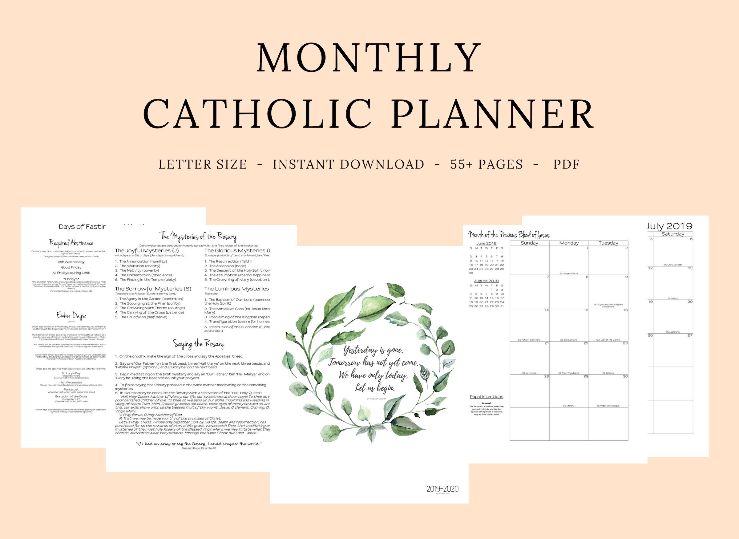 Catch 2020 Catholic Liturgical Calendar Printable | Calendar Printables Free Blank for Where To Get 2021 Catholic Calendars Made Graphics