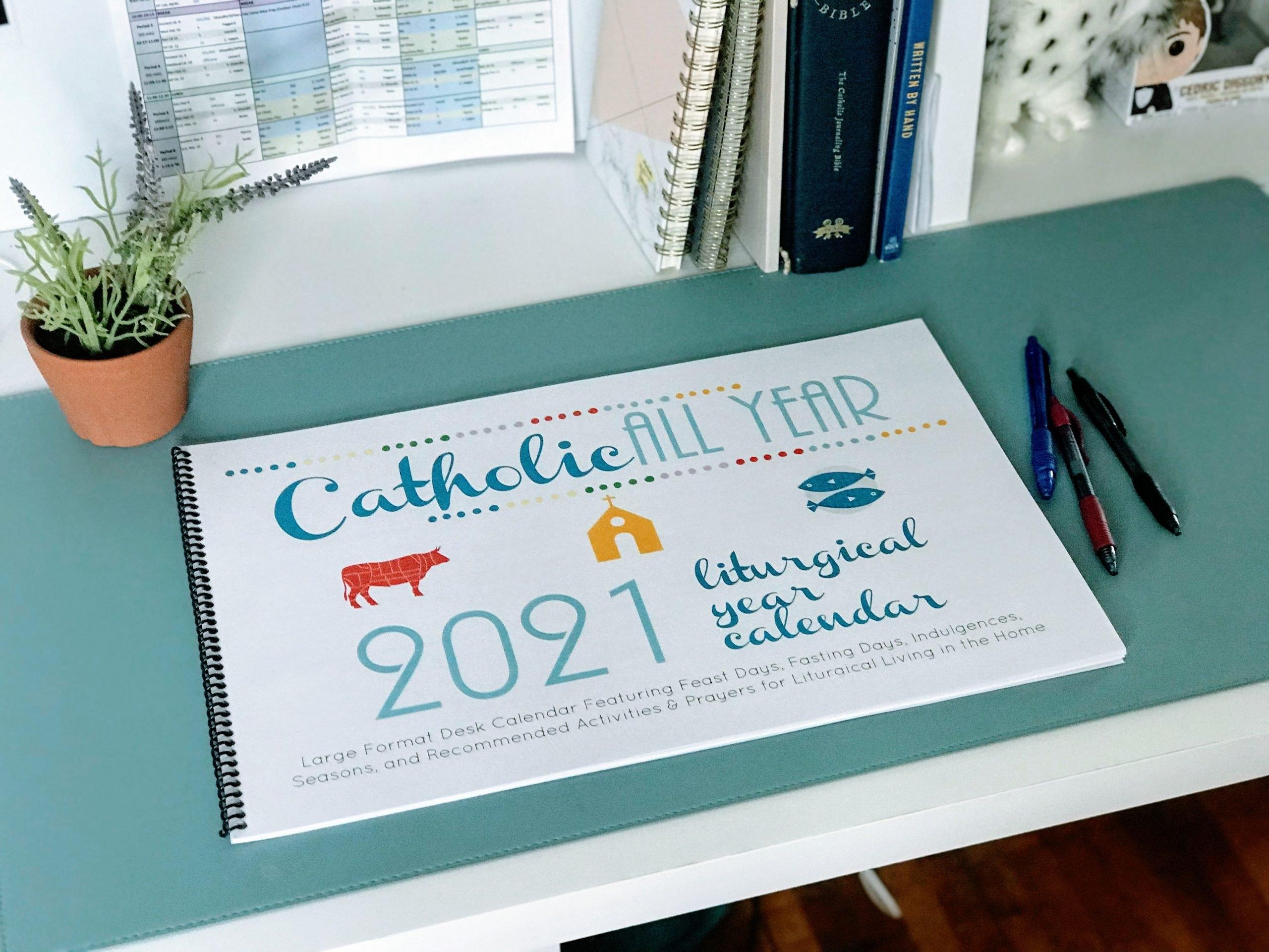 Catholic All Year 2021 Liturgical Desk Calendar Large Format 11X17 *Digital Download* - Catholic within Image Of 2021 Church Calendar Photo