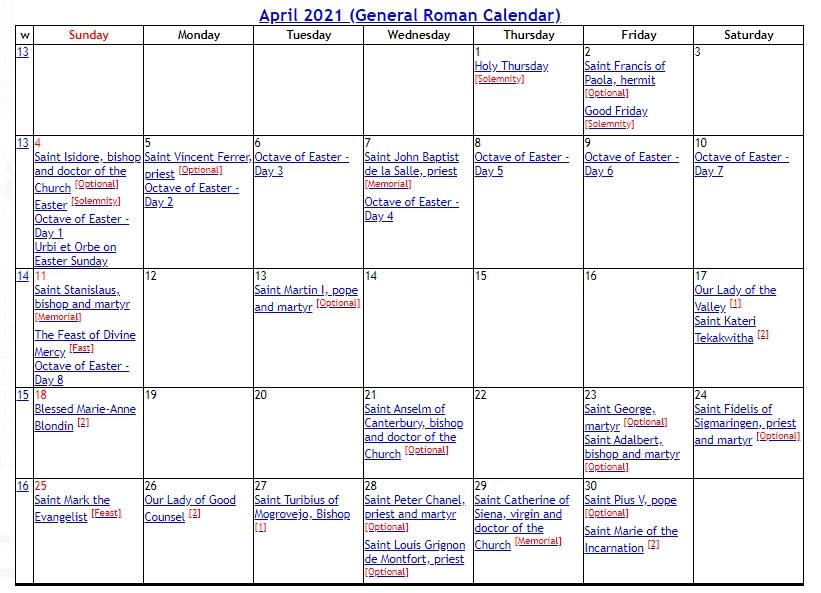 Catholic Liturgical Calendar 2021 for Where To Get 2021 Catholic Calendars Made