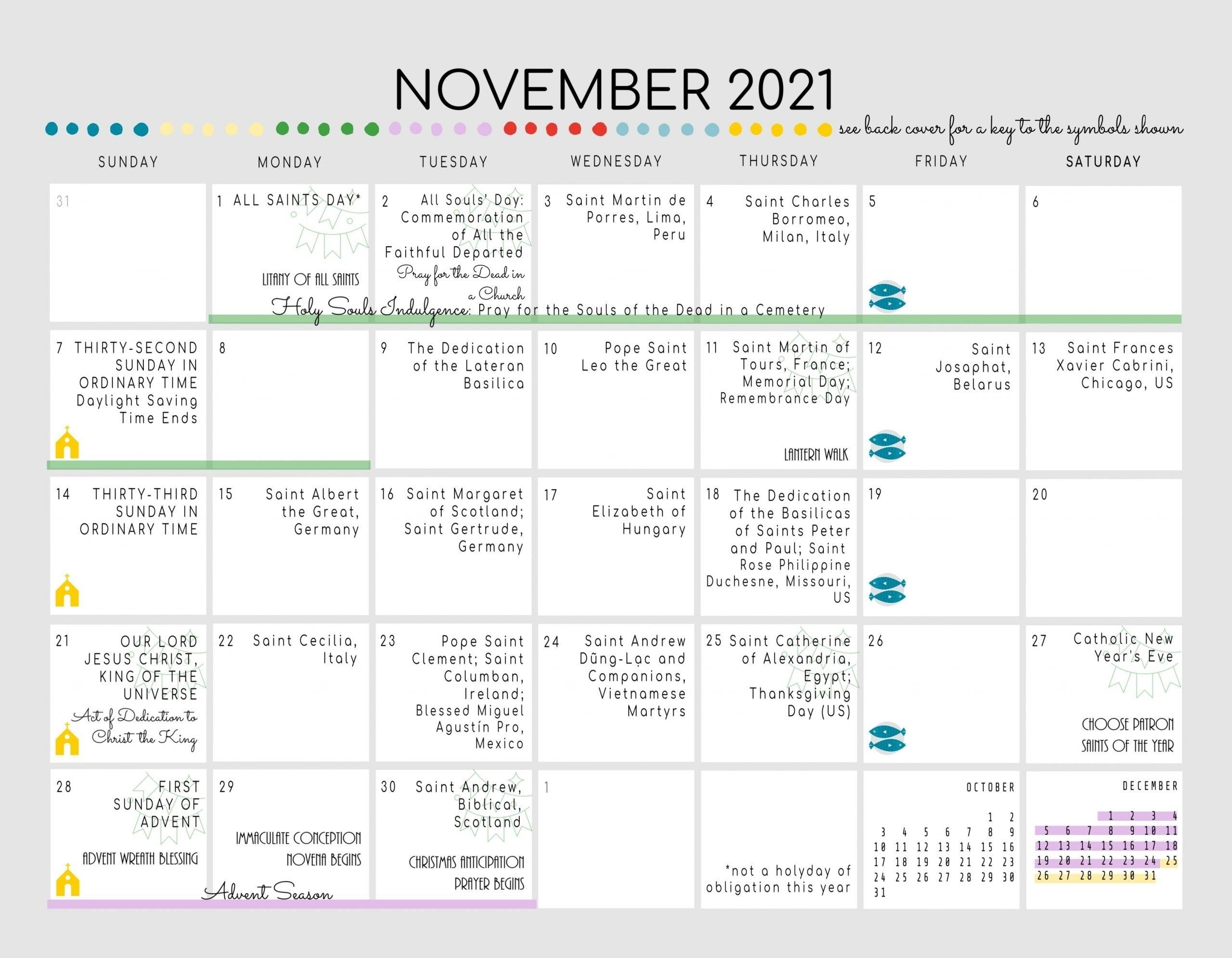 Catholic Year 2021 | Calendar Template Printable with Printable Daily Calendar 2021 Graphics