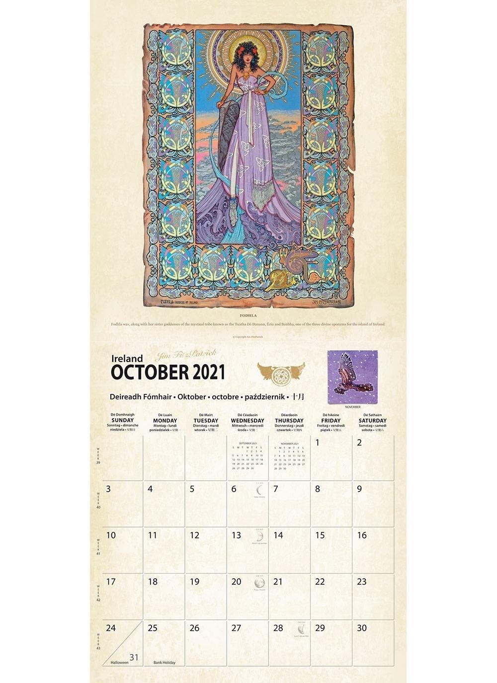 Celtic Mythology 2021 Calendar | Blarney inside 2021 Calendar Trinidad And Tobago